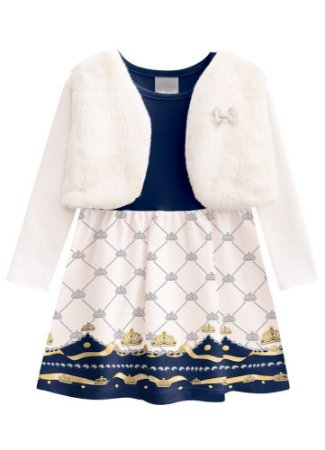 Brandili Vestido C Bolero Manga Longa Infantil 53542