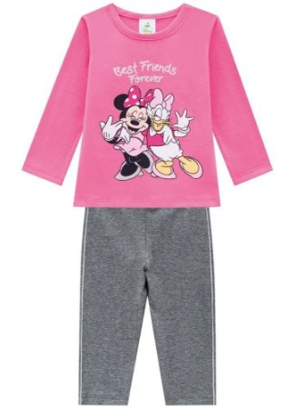 Brandili Conjunto Legging Longa Infantil Feminino 53750 Cor Rose