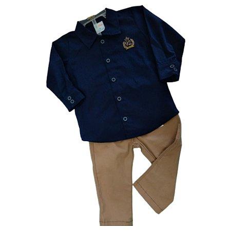 Paraiso Conjunto Calça Sarja Manga Longa Infantil Masculino 9126  Jeans