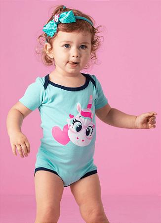 Puket Pijama Short Doll Manga Curta Unicorno Baby 030200475