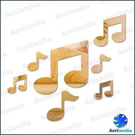 ESPELHO DECORATIVO NOTA MUSICAL – 7 peças
