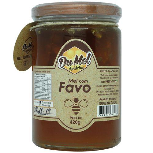 Mel com Favo Du Mel   420g