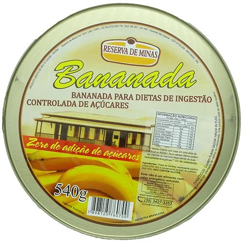 Bananada Sem Açúcar | 540g