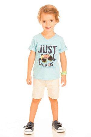 Camiseta masculina interativa com binóculo em feltro (RK22122)