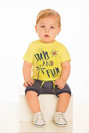Conjunto Masculino Camiseta e Bermuda Saruel-8065