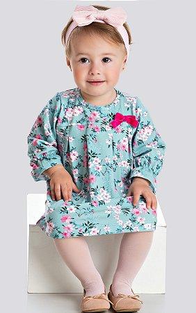 Vestido Floral Manga Longa-7452