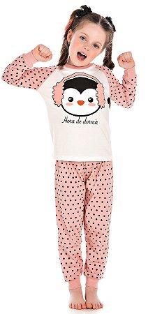Pijama Feminino Manga Longa Brilha no Escuro-BB9056