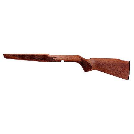 Coronha em Madeira Serrilhada Para Rifle Cbc Modelo 7022.