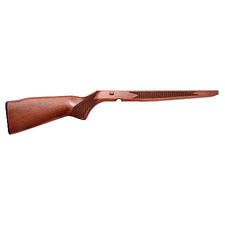Coronha De Madeira Serrilhada Para Rifle Cbc Modelo 8122 e 8117