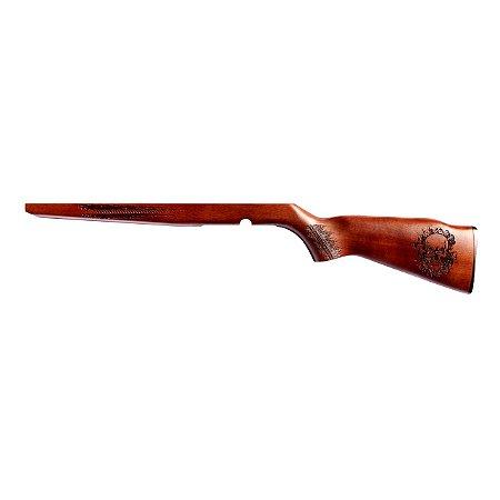 Coronha De Madeira Personalizada Para Rifle Cbc Modelo 8122 e 8117