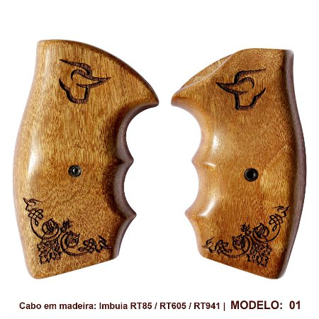 Cabo Revolver Madeira Taurus Modelos 605, 85, 85s 856 E 941