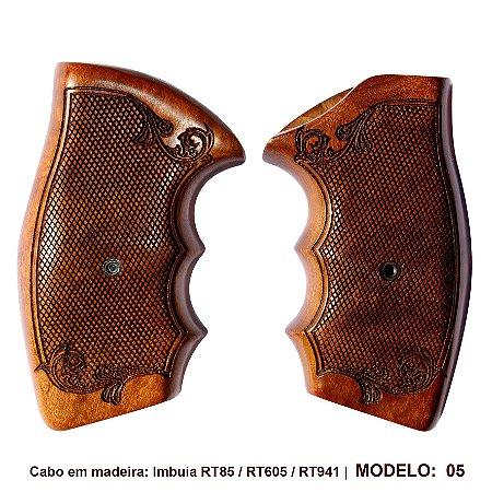Cabo para Revolver Taurus em madeira Modelos 605, 85, 85s 856 E 941