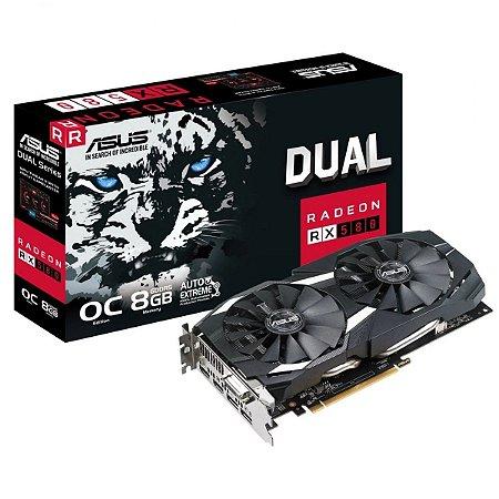 Placa de Vídeo ASUS Radeon RX 580 OC Edition 8GB GDDR5