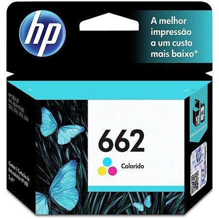 Cartucho HP 662 Colorido Original (CZ104AB)