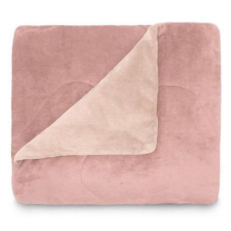 Edredom Plush Flannel Casal - Rosa