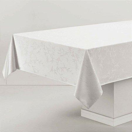 Toalha de Mesa Verissimo Branca Retangular 6 Lugares - Karsten