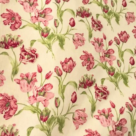 Tecido Cotton Estampado 100% Algodão - Floral Vermelho