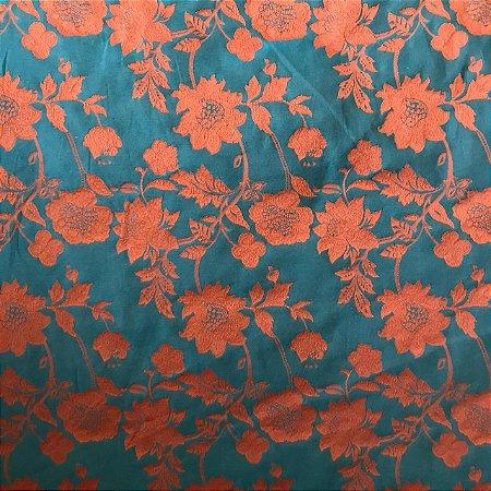Jacquard Fio Tinto Istambu - Floral Musgo