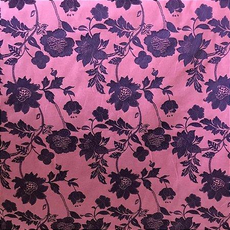 Jacquard Fio Tinto Istambu - Floral Roxo