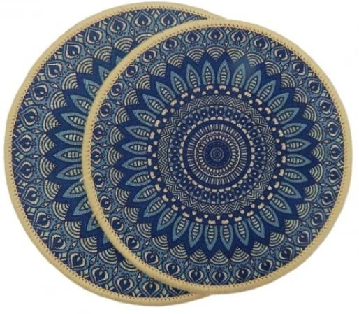 kit Descanso p/ Panela 2 peças - Azul Roial - Kacyumara