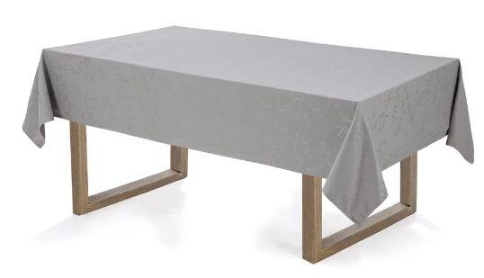 Toalha de mesa Retangular 12 lugares Celebration Veríssimo - Granizo - Karsten
