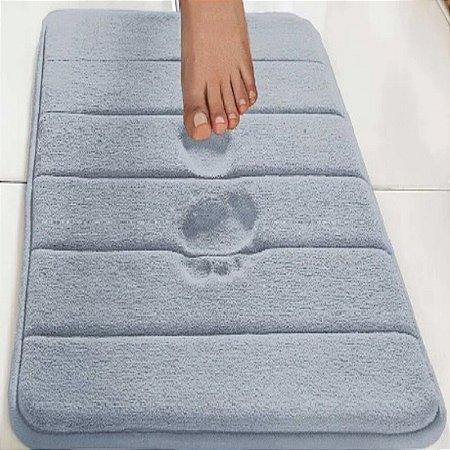 Tapete Super Soft 60cm X 40cm Azul - Camesa