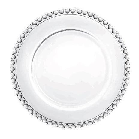 Prato Raso de Cristal Coração Lyor - 28cm
