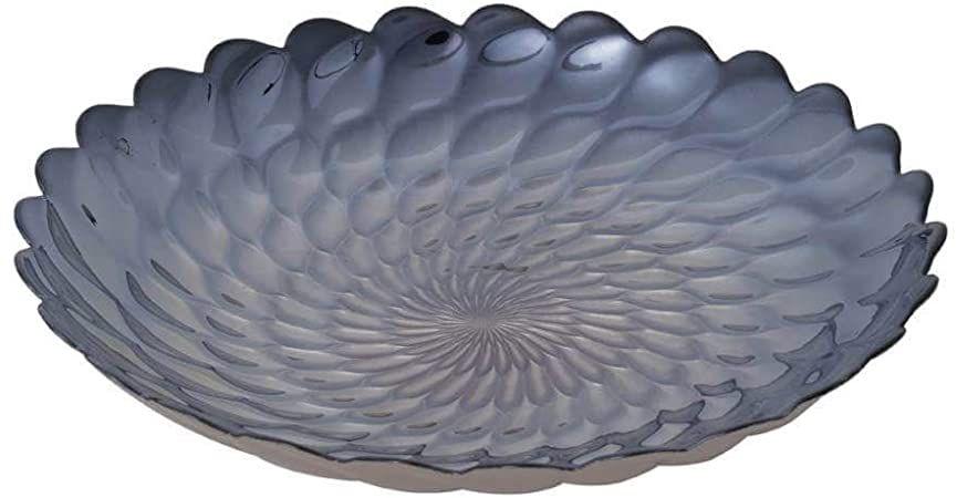 Centro de Mesa de Vidro Belgravia Iris Luster Lyor - 40X 7cm
