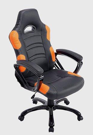 Cadeira Office Flash Preto E Laranja - Rivatti