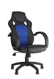 Cadeira 0ffice Racer Preto E Azul - Rivatti