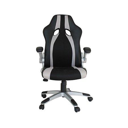 Cadeira Office Speed Preto E Prata - Rivatti
