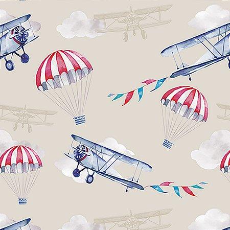 Tecido Estampado Art Decor - Avião