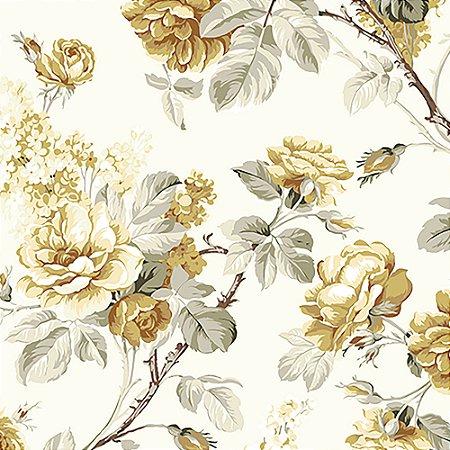 Tecido Estampado Art Decor - Grace Floral Amarelo