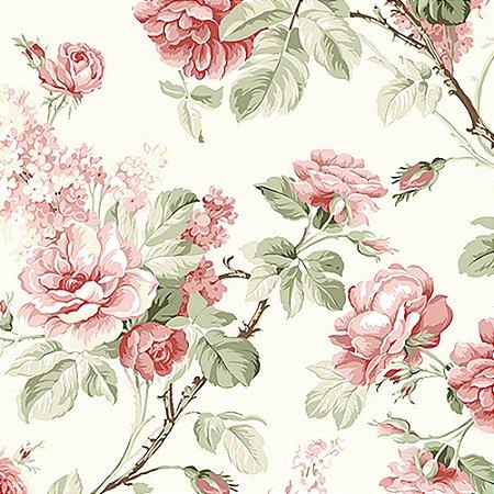 Tecido Estampado Art Decor - Grace Pessego 18435-2