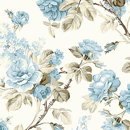 Tecido Estampado Art Decor - Grace Azul 18435-3