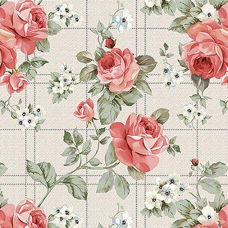Tecido Estampado Art Decor - Nicole Vermelho 511