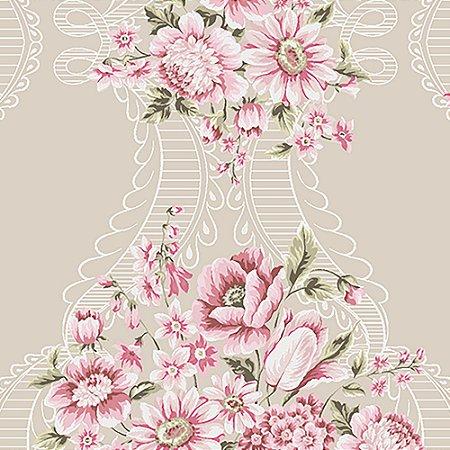 Tecido Estampado Art Decor - Vitoria Rosa 18436-3