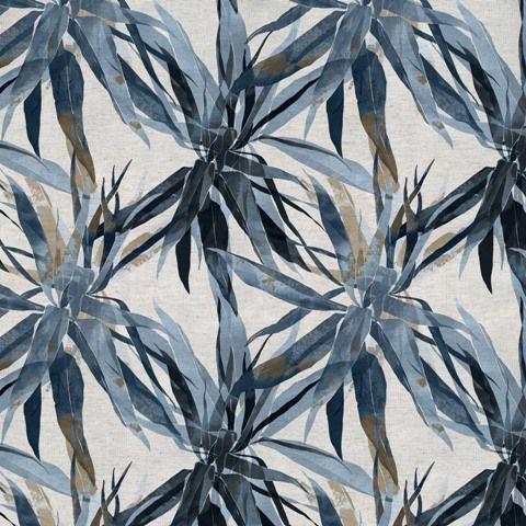 Garden linho 700976 Cor 006 Ramado azul marinho