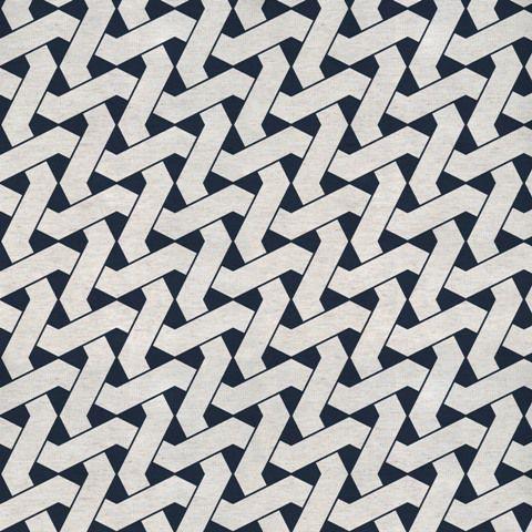 Garden linho 700980 Cor 004 Geometrico azul