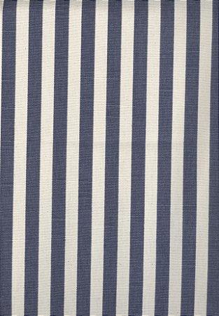Linho Florata - Cor Listrado Azul Royal