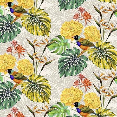Garden trancoso 700876 Cor 006 Passaros amarelo