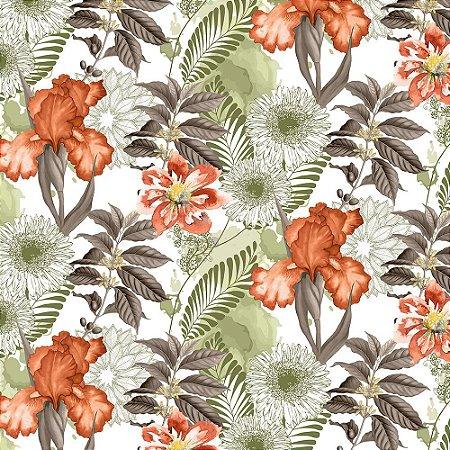 Garden trancoso 700877 Cor 012 Floral laranja/verde