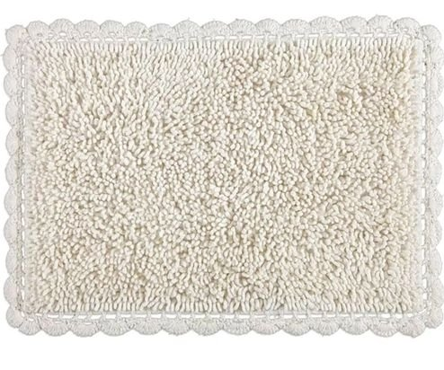 Tapete Croche Bolinha 45x65 - Cru - Kacyumara