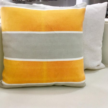 Almofada cinza e laranja - 50X50