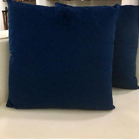 Almofada de veludo azul escuro - 50X50