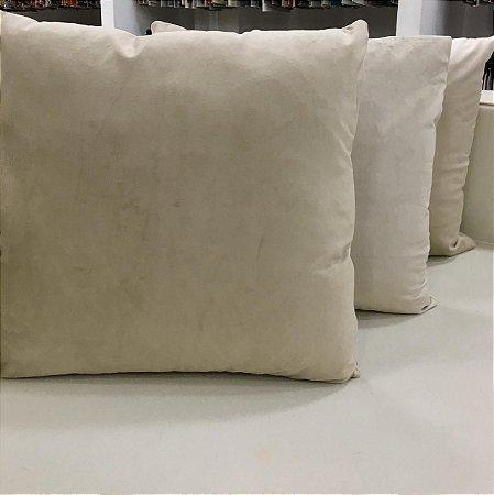 Almofada de Veludo Bege - 50X50