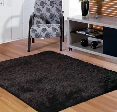 Tapete Tabacow - Preto - 2,00m X 2,00m