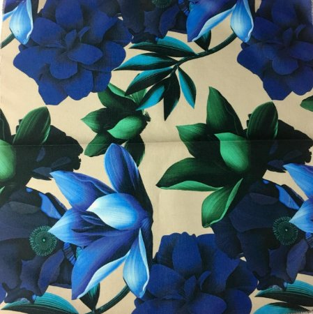 Soleil Digital - Floral Bege/Azul