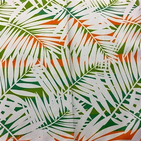 Soleil Digital - Folhagem Verde/Laranja