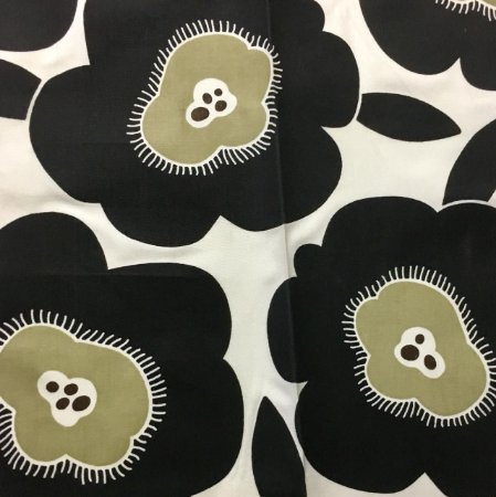 Acrilico - Floral Preto
